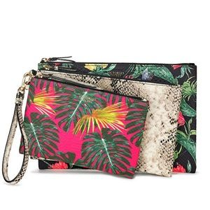 Victoria's Secret Hot Tropic Cosmetic Bag Trio